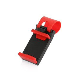 dhl car UK - universal Car Steering Wheel Cradle Holder SMART Clip Car Bike Cell Phone Mounts for Mobile iphone sam sung Cell Phone GPS DHL shipping