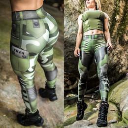 $enCountryForm.capitalKeyWord Australia - HOT SELLING womens green camouflage printed leggings slim fit sports pants size S M L XL