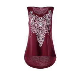 2018 Fashion Summer Women Cami Casual O-Neck Sleeveless Prints Elastic  Pullover Feminino Tank Top db08c0d1c696