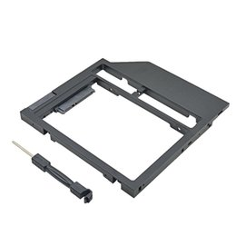 Wholesale New Universal Plastic HDD Caddy mm mm SATA quot SSD Case Laptop CD DVD ROM Optibay