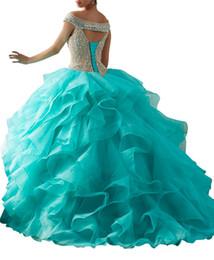 $enCountryForm.capitalKeyWord UK - Quinceanera Dresses Heavy handmade sexy collar wrap shoulder strap tail sparkling blue-green Ogan dress with lotus leaf edge wrap mail