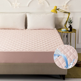 $enCountryForm.capitalKeyWord Australia - 2018 New Product Waterproof Quilted Mattress Protector Pad Fitted Sheet Separated Water Bed Linens with Elastic 54