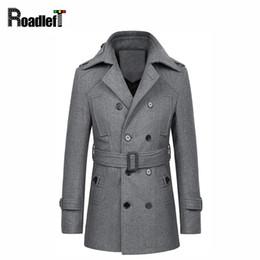 3345a82c41368 Winter New Fashion Woolen Long Pea Coats Men Slim Fit Casual Overcoat Mens  Warm Windbreaker Double Breasted Trench Coat Jackets