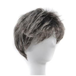 $enCountryForm.capitalKeyWord UK - Men's middle and old age father's short straight hair performance prop, wig performance, white flower and white grandfather, father's old ma