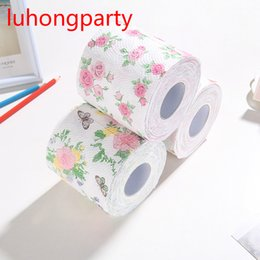 ToileT papers rolls online shopping - 2Packs m pack flowery design Printed Paper Toilet Tissues Roll Toilet Paper Novelty Tissue