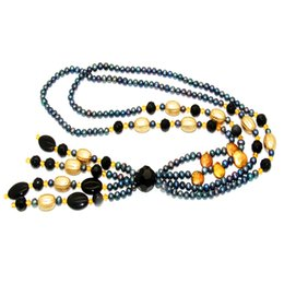 $enCountryForm.capitalKeyWord Canada - Natural freshwater pearl jewelry 6-7mm black freshwater pearl necklace for mother's surprise gift