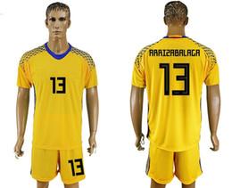 soccer jersey world cup spain goalkeeper arrizabalaga 13 camisetas de futbol yellow retro uniforms kit jerseys