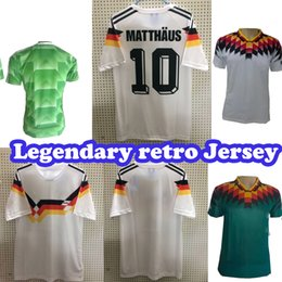 germany soccer cup 2019 - SIZE S-2XL 1990 World Cup Germany Retro Soccer Jersey KLINSMANN Matthäus 1988 1994 World Cup home away Germany Retro foo