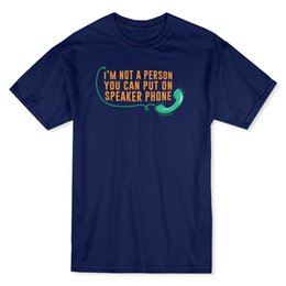 """Latest Speakers UK - """" I'm Not A Person You Can Put On Speaker Phone """" Quote Men's T-shirt 2018 Latest Men T Shirt Fashion Gray Style"""