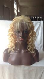 $enCountryForm.capitalKeyWord Australia - Wavy Blonde Full Lace Wigs Glueless Lace Front Wig Human Hair Wigs For Black Women