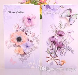 general flowers Australia - love124 Heart cards for flowers card watercolor blessing can be customized general valentine's day card teachers' day cute124