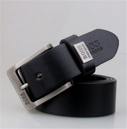 Wholesale 2018 Best quality designer brand name fashion Mens Business Waist Belts Genuine needle buckle Leather belts For Men cm