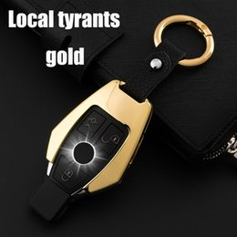 mercedes car key covers UK - Colorful Zinc alloy Car Key Bag Case Cover Key Holder Chain For Mercedes Benz Accessories W203 W210 W211 W212 W124 W202 W204 AMG
