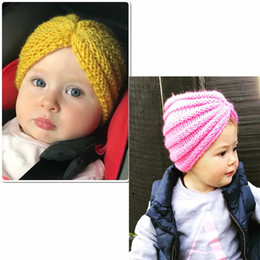 Baby Boy Skull Crochet Beanies Australia - Fashion Toddler Kids Girl&Boy Winter Warm Crochet Knit Hat Cap Baby Knitting Hat Beanie Turban Head Wrap Cap