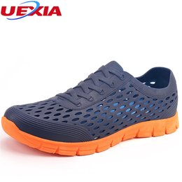 b6ef425fbdb9 Jelly Shoes Clear Canada - UEXIA Men s Sandals Summer Jelly EVA Hollow Man  Slippers Garden Shoes