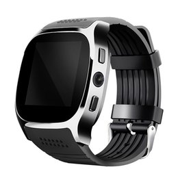Sync Smart watcheS online shopping - For Android New T8 Bluetooth Smart Pedometer Watches Support SIM TF Card With Camera Sync Call Message Men Women Smartwatch Watch