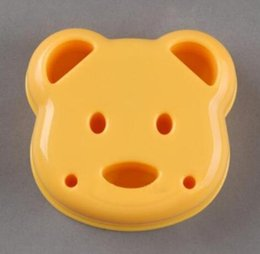 RubbeR ball beaRings online shopping - New Home DIY Cartoon Bear Design Sandwich Cutter Bread Biscuits Embossed Device Cake Tools Rice Balls Lunch DIY Mould Tool