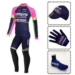 LAMPRE team Cycling long Sleeves jersey (bib) pants men mountain bike  clothing mtb bicycle sportswea full set cycling equipment 110801F 22e89021e