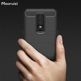 $enCountryForm.capitalKeyWord NZ - for OnePlus 6 Case Soft Silicon Case TPU Cover Carbon Fiber Case