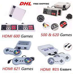 Vente en gros HOT Arrivée Mini TV 500 600 620 621 821 Console de jeu Vidéo de poche pour les consoles de jeux NES avec boîtes de vente au détail jouets de vente chaude