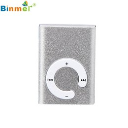 mp3 player pink clip 2019 - Gift 100% Brand New Fashion Mini Clip Metal USB MP3 Player Support Micro SD TF Card Music Media Wholesale price_KXL0529