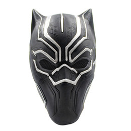 $enCountryForm.capitalKeyWord UK - Black Panther Masks Movie Roles Cosplay Costume Adults Halloween Mask Realistic Men's Latex Party Mask