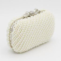 5926a5771b85a 2019 Neue Doppel Voll Perlen Perlen Braut Hochzeit Handtaschen Ring Tasche  Damen Abend Party Eine Schulter Kleine Clutch Dinner Bags Schöne
