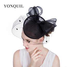 $enCountryForm.capitalKeyWord NZ - 17Colors Hair Accessories Elegant Lady Top dot Net Mesh Veilling bow Fascinator hair band hats for Wedding Church Party DIY millinery SYF167