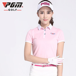 Polo Sportswear NZ - PGM New Tops Polo Shirt Lady Short Sleeved T-shirt Ultra-thin Sportswear Dry Fit Tennis Shirt Ropa De Golf Polera Hombre Clothes
