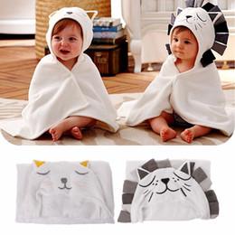 466d713f98 Terry Towelling Bathrobes Australia - Soft Baby Kids Cartoon Hooded Blanket Bathrobe  Bath Terry Towel Wrap