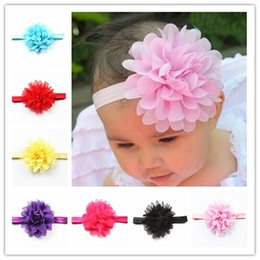 Wholesale Baby Girl Elastic Hairband Children Hair Wear For Kids Head Band Flower Headband Baby Hair Accessories