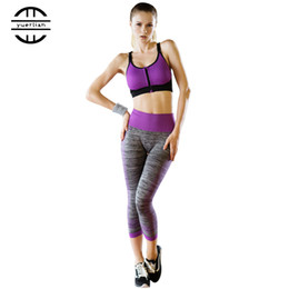 a9b13d32312 Women Sexy Compression Fitness Tights Yoga Set Quick Dry Workout Sports  Suit Leggings Pants Bra Gym Tracksuit Women s costum