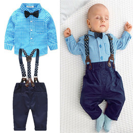 21dc3b1439e2f Bow ties for newBorns online shopping - Baby Boy Clothes Spring New Brand  Gentleman Plaid Clothing