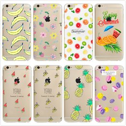 banana phone cover 2018 - Case for iPhone 7 8 Fashion Orange Banana Macarons Pattern Soft Silicone Phone Cases Cover for iPhone 6 6S Plus 5S SE X