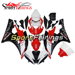 Complete Fairing Kits Yamaha Australia - Motorcycle Complete Fairing Kits For Yamaha YZF600 R6 YZF-R6 Year 2006 2007 Sportbike ABS Motorcycle Bodywork Red Black White New Arrive