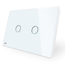 Switch Panels NZ - High Quality Wall Switch Wholesale, 110~250V, Ivory White Glass Panel, AU US Standard Touch Light Switch VL-C902-11 with LED indicator