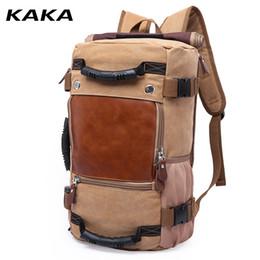 $enCountryForm.capitalKeyWord Canada - KAKA classic leisure Korean Vintage Large capacity Canvas bag Men backpack Multi-functional travel leisure backpacks LY1