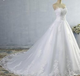 $enCountryForm.capitalKeyWord NZ - 2017 White Ivory Gown Tulle Sweetheart Wedding Dress Real Photo Court Train for bride Dresses plus size High Quality