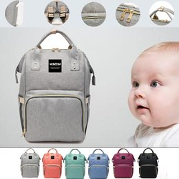 brand stroller Canada - Retail- Diaper Bags Stroller Brand Large Capacity Baby Nappy Bag Mummy Travel Backpacks Desiger Baby Care Nursing Bag for Mum Maternity