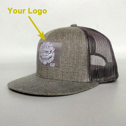 d2650ba7ea9 flat visor children kids youth sizable custom-made trucker hat snapback  closer custom baseball hats custom cap the back with mesh