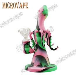 Sale Dab Bongs NZ - Cheap sales! Octopus silicone dab rig smoke bong dabber tools come with glass bowl non-toxic non-smelly