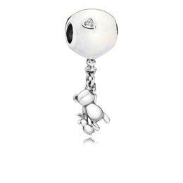 $enCountryForm.capitalKeyWord Australia - 2018 Summer New Authentic 925 Sterling Silver Bead White Enamel Family Bear Hanging DIY Charms Fit Original Pandora Bracelets Women Jewelry