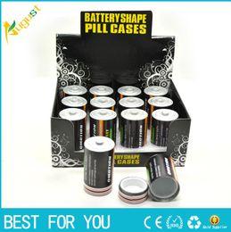 Опт Горячие продажи батареи секрет тайник утечки сейф коробка пилюльки скрытые деньги монеты контейнер чехол для хранения дома