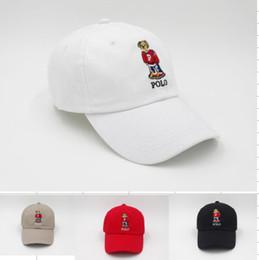 Red hats online shopping - 2018 classic style white blue black colors polo bear hats for men hip hop Snapback Caps visor Casquette baseball Cap