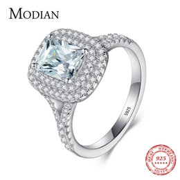 wedding cake toppings UK - 2016 Top quality R&J Brand Bridal 100% Solid 925 Sterling Silver Ring Cake Engagement Wedding Fine rings Jewelry For Women D18111306