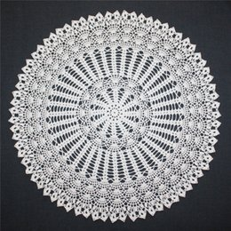 cotton rounds Australia - Large Crochet Doily, White Doily, Lace Round Doily, Cotton Doiies, Lace Tablecloth, Table Topper, 20 inches