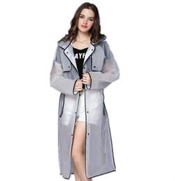 2018 Moda EVA Adultos Impermeables Encantadoras Chicas Estilo Abrigo y Abrigos Impermeables e Impermeables Transparentes en venta