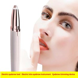 Hair removal instrument online shopping - Newes shaver Eyebrow trimming device Hair removal device mini Electriceyebrow knives Electric eyebrow tool Electric trim eyebrow instrument