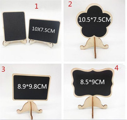 mini easel wedding UK - 200pcs wood Mini Chalkboard Place Cards holders wedding name cards with Easel Stand for Wedding Birthday Party C206