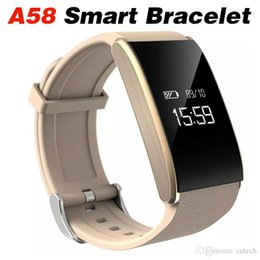 Sport Pulse Heart Rate Monitor Australia - A58 Smart Bracelet Blood Pressure Heart Rate Monitor Intelligent Fitness Tracker Watch Wrist Smartband Wristband Sport Watch For Android IOS